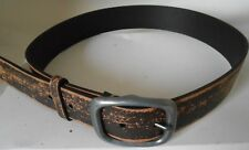 38MM Distressed Brown Bonded Leather Belt, 1061. *Small*