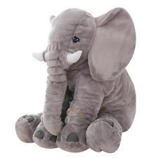 Grey large elephant pillows cushion baby plush toy stuffed animal kids gift