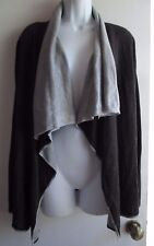 Calvin Klein NWT Light & Charcoal Gray Open Knit Cardigan Sz M