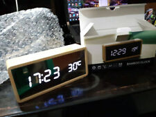 Digital Motif Wooden Table Clock