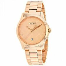 Gucci G-timeless Rose Gold Stainless Steel Bracelet Watch YA126482 010