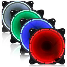 Computer Eclipse Case Radiator Red Blue Green White CPU Cooling Fan 120mm LED