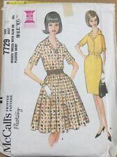 VTG 60s McCalls Misses Shirtwaist Dress Slim Or Pleated Skirt Size 14 Bust 34