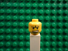 Lego mini figure 1 Yellow head with double sided face #21