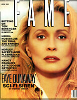RARE April 1990 Issue Of Fame OOP Defunct Magazine Faye Dunaway Cover
