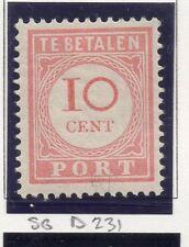 Dutch Indies 1913-39 Port Postage Due Issue Fine Mint Hinged 10c. 163430