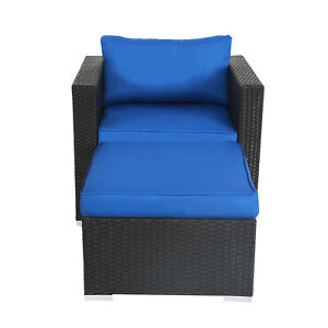 Rattan Wicker Sofa Set Sectional Ottoman Couch Patio Outdoor Furniture Yard