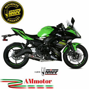 Scarico Completo Kawasaki Ninja 650 2020 Terminale Mivv Oval Carbon Cap Moto