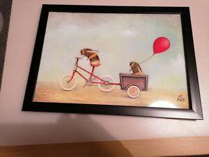 Bee On A Bike Framed Print