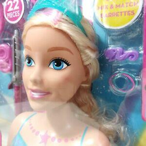 🚛Fast Shipping! {NEW} Barbie Dreamtopia Mermaid Styling Head Tiara Blonde