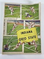 Indiana Hoosiers vs Ohio State Buckeyes Football Program Oct. 5, 1963 Vintage