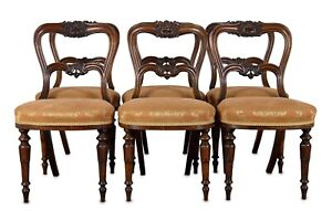 Set of Six Rosewood Dining Chairs by Holland & Sons