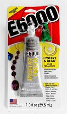 E-6000 Jewelry & Bead Glue with PrecistionTips Permanent Bond Multi Purpose 1 oz