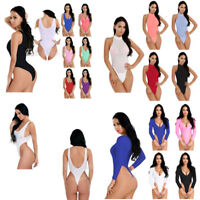 Women Sleeveless Bodysuit Leotard Top Blouse Romper Jumpsuit Playsuit Lingerie