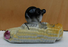 Ältere sehr schöne Porzellan Maus auf Maiskolben von Iris Cluj Lux !!!