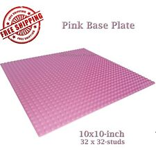 For LEGO, 1 Pink 10x10-inch 32x32-stud Brick Building Base Plate