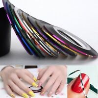 DIY Colorful Rolls Striping Tape Line Nail Art Tips Decoration Sticker *10 YA9