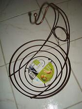 BRONZE Wire Basket Fruit Bowl Storage Bin Kitchen Counter Banana Hanger Ho