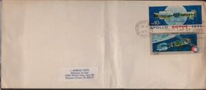 USA 1975 Apollo-Soyuz FDI addressed @D3387L
