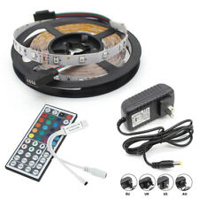 5M 300 LEDs RGB LED Strip Light Changing Kit+44keys Remoto Controller+Power Plug