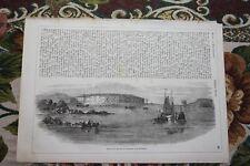 1856 Stich 29 / Festungen Bomarsund Russland Aland-Inseln