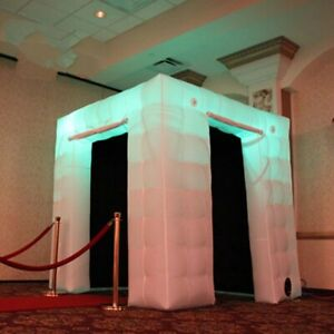 Large 2 - doors custom wedding party inflatable photobooth led photo booth tent