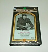 Sergeant York VHS Pal Warner Big Box ex rental Gary Cooper