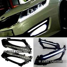 Direct Fit 12-LED Daytime Running Light DRL Lamp K5 Optima w/ Glossy Bezel 11-13