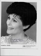 Roberta Peters-- signed photo - COA - Pose 12