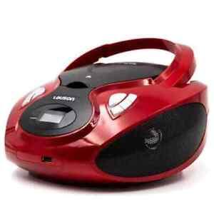 Radio Reproductor portatil cd mp3 usb bluetooth pantalla lcd CP639 Lauson Rojo
