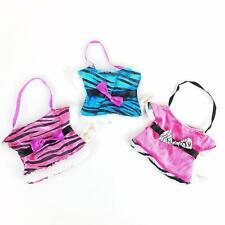 Dan Dee Dandee Zebra Fabric Gift Bag Set of 3 Pink Blue Dress Shaped Purse