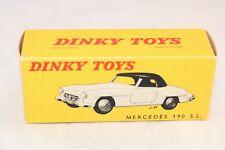 Dinky Toys 24H Mercedes Benz 190SL very near mint box very rare 8-212 box