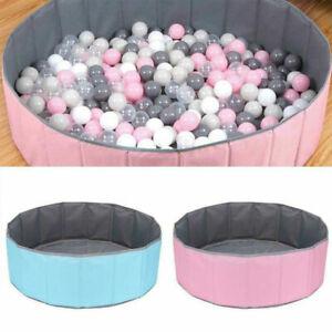 Large Soft Baby Ball Pit Folding paddling Pool Pit 100x30cm w/100 Cololful Balls