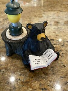 Kritter Hollows Bearfoots Big Sky Carvers Reading Bear with Lantern  Dated 2000