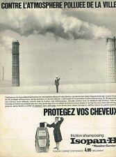 B- Publicité Advertising 1965 Shampooing friction Isopan-H Garnier