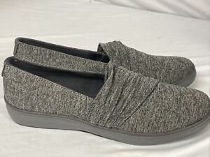 Keds Grasshoppers Size 9 LACUNA PLEATED JERSEY Dark Grey Loafers Women's Shoes
