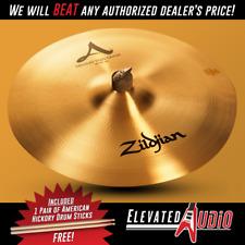 "Zildjian A 18"" Medium Thin Crash Cymbal + FREE American Hickory Drum Sticks!"