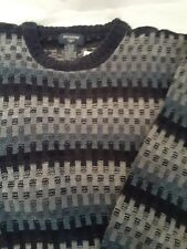 Docker's Navy Tweed Chenille Sweater Size XL ** 100% Donation 2 Cure K9 Cancer