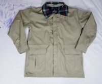 Vintage Woolrich Mens Field Coat Barn Jacket Parka  Sz Large Hooded 3 Pockets