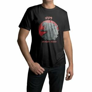 Men's 100% Cotton Short Sleeve T-shirt Godzilla Monster Graphic Tees