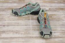 ** Salomon Speedcross 3 Trail Running Shoes, Women's - Size 8, Grey/Mint