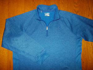 UNDER ARMOUR 1/2 ZIP LONG SLEEVE ROYAL BLUE FLEECE LINED PULLOVER MENS 2XL EXC.