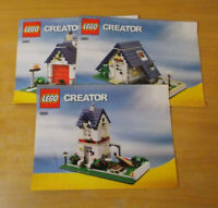 Lego 5891 Apple Tree House Instruction Manual Only Creator 3 in 1  Free P&P UK