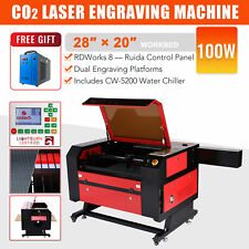 Omtech 100w 28x20 Co2 Laser Engraver Engraving Machine Amp Cw 5200 Water Chiller
