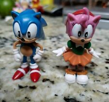 """Sonic & Amy  The Hedghog Classic Figure 2.5"""" Collectible Toy Jazwares Sega"""