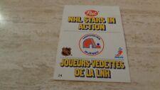 1981-82 Post NHL Stars In Action Pop-Ups #23 Quebec Nordiques - Robbie Ftorek
