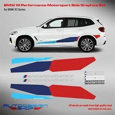 M Performance Motorsport Side Stripes decals Set for BMW X3