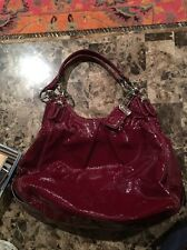 GENUINE COACH RED PATENT LEATHER F1073-15734 LARGE HANDBAG PURSE NWOT gorgeous.