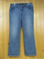 Nine West Women's Sams Santa Monica Boot Cut Jeans Size 12/30 Avg Stretch