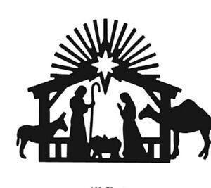 Christmas Nativity Scene Metal Craft Die. Cards, Scrapbooking Uk Selling